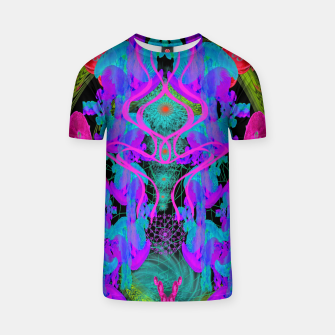 Thumbnail image of Jellyfish Warp (ultraviolet, psychedelic, underwater, trippy) T-shirt, Live Heroes