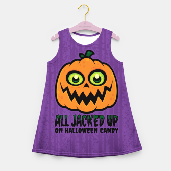 Miniatur All Jacked Up on Halloween Candy Jack-O'-Lantern Girl's summer dress, Live Heroes