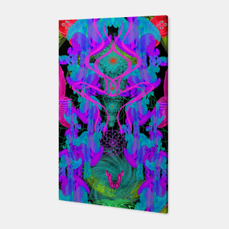 Thumbnail image of Jellyfish Warp (ultraviolet, psychedelic, underwater, trippy) Canvas, Live Heroes