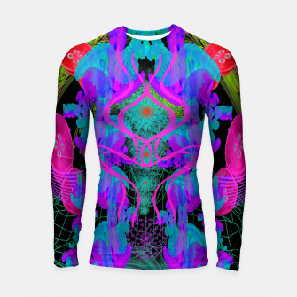Thumbnail image of Jellyfish Warp (ultraviolet, psychedelic, underwater, trippy) Longsleeve rashguard , Live Heroes