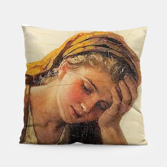 Thumbnail image of Sad girls Pillow, Live Heroes