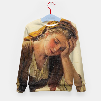 Thumbnail image of Sad girls Kid's sweater, Live Heroes