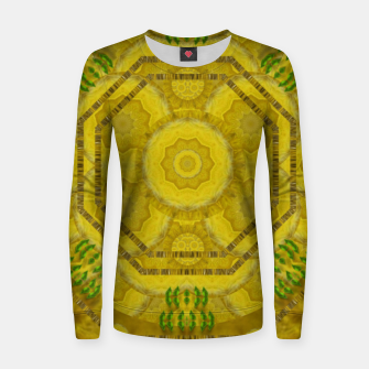 Miniaturka  sunshine feathers and fauna ornate Women sweater, Live Heroes