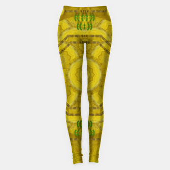 Miniaturka  sunshine feathers and fauna ornate Leggings, Live Heroes