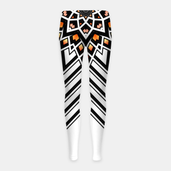 Thumbnail image of 9 Pointed Star Girl's leggings, Live Heroes