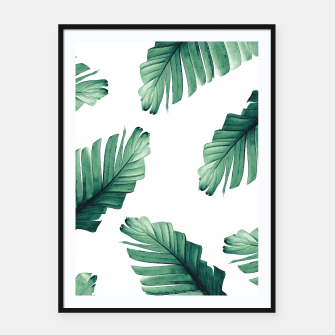 Tropical Banana Leaves Dream #5 #foliage #decor #art Plakat mit rahmen obraz miniatury