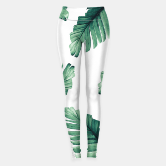 Tropical Banana Leaves Dream #5 #foliage #decor #art Leggings obraz miniatury