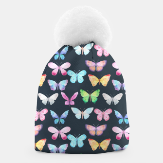 butterfly pattern Czapka miniature