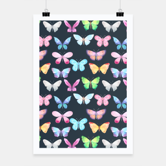 butterfly pattern Plakat miniature