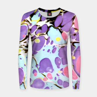 Thumbnail image of Surprise | Psychedelic Fluid Marbled Abstract |   Women sweater, Live Heroes