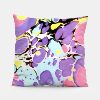 Thumbnail image of Surprise | Psychedelic Fluid Marbled Abstract |   Pillow, Live Heroes