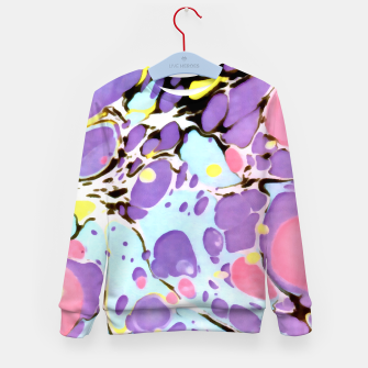 Thumbnail image of Surprise | Psychedelic Fluid Marbled Abstract |   Kid's sweater, Live Heroes