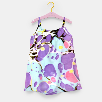 Thumbnail image of Surprise | Psychedelic Fluid Marbled Abstract |   Girl's dress, Live Heroes