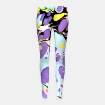 Thumbnail image of Surprise | Psychedelic Fluid Marbled Abstract |   Girl's leggings, Live Heroes