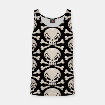 Thumbnail image of Skull and Crossbones Pattern Tank Top, Live Heroes