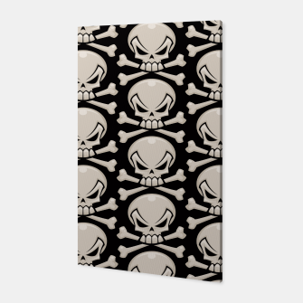 Thumbnail image of Skull and Crossbones Pattern Canvas, Live Heroes