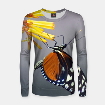 Thumbnail image of Tiger Longwing Butterfly Women sweater, Live Heroes