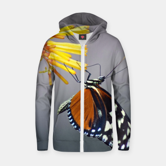 Thumbnail image of Tiger Longwing Butterfly Zip up hoodie, Live Heroes