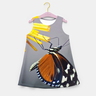 Thumbnail image of Tiger Longwing Butterfly Girl's summer dress, Live Heroes