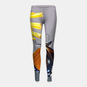 Thumbnail image of Tiger Longwing Butterfly Girl's leggings, Live Heroes