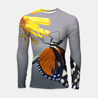 Thumbnail image of Tiger Longwing Butterfly Longsleeve rashguard , Live Heroes