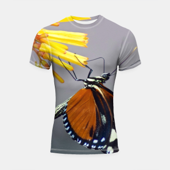 Thumbnail image of Tiger Longwing Butterfly Shortsleeve rashguard, Live Heroes