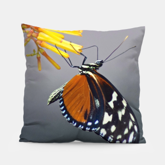Thumbnail image of Tiger Longwing Butterfly Pillow, Live Heroes
