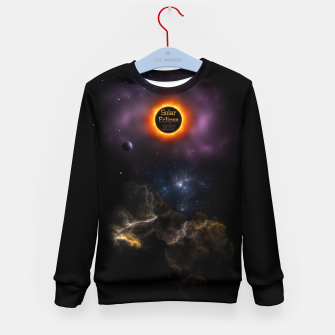 Thumbnail image of Solar Eclipse 2017 Nebula Bloom Kid's sweater, Live Heroes