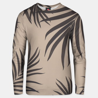 Thumbnail image of Palm Leaves Pattern Sepia Vibes #1 #tropical #decor #art Unisex sweatshirt, Live Heroes