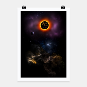 Thumbnail image of Solar Eclipse 2017 Nebula Bloom Poster, Live Heroes