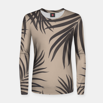 Thumbnail image of Palm Leaves Pattern Sepia Vibes #1 #tropical #decor #art Frauen sweatshirt, Live Heroes