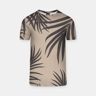Thumbnail image of Palm Leaves Pattern Sepia Vibes #1 #tropical #decor #art T-Shirt, Live Heroes