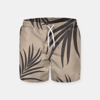 Thumbnail image of Palm Leaves Pattern Sepia Vibes #1 #tropical #decor #art Badeshorts, Live Heroes
