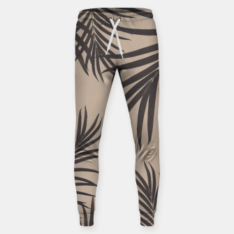 Thumbnail image of Palm Leaves Pattern Sepia Vibes #1 #tropical #decor #art Hosen, Live Heroes