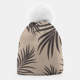 Thumbnail image of Palm Leaves Pattern Sepia Vibes #1 #tropical #decor #art Mütze, Live Heroes