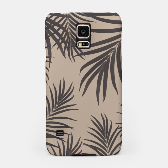Thumbnail image of Palm Leaves Pattern Sepia Vibes #1 #tropical #decor #art Handyhülle für Samsung, Live Heroes