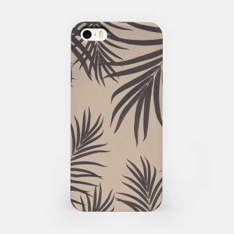 Thumbnail image of Palm Leaves Pattern Sepia Vibes #1 #tropical #decor #art iPhone-Hülle, Live Heroes