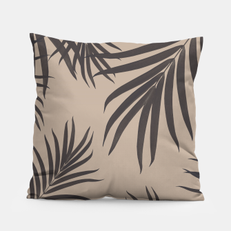 Thumbnail image of Palm Leaves Pattern Sepia Vibes #1 #tropical #decor #art Kissen, Live Heroes