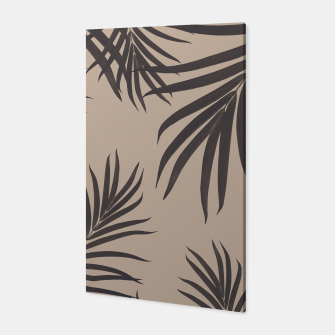Thumbnail image of Palm Leaves Pattern Sepia Vibes #1 #tropical #decor #art Canvas, Live Heroes