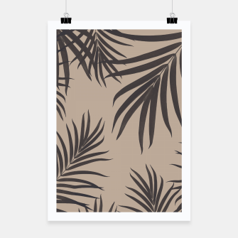 Thumbnail image of Palm Leaves Pattern Sepia Vibes #1 #tropical #decor #art Plakat, Live Heroes