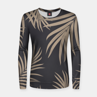 Thumbnail image of Palm Leaves Pattern Sepia Vibes #2 #tropical #decor #art  Frauen sweatshirt, Live Heroes