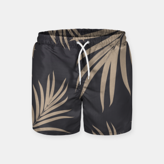Thumbnail image of Palm Leaves Pattern Sepia Vibes #2 #tropical #decor #art  Badeshorts, Live Heroes