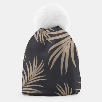 Thumbnail image of Palm Leaves Pattern Sepia Vibes #2 #tropical #decor #art  Mütze, Live Heroes