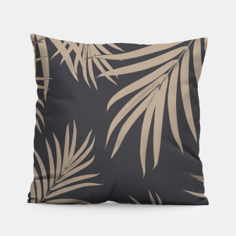 Thumbnail image of Palm Leaves Pattern Sepia Vibes #2 #tropical #decor #art  Kissen, Live Heroes