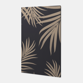 Thumbnail image of Palm Leaves Pattern Sepia Vibes #2 #tropical #decor #art  Canvas, Live Heroes