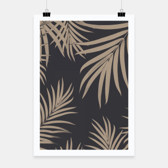 Thumbnail image of Palm Leaves Pattern Sepia Vibes #2 #tropical #decor #art  Plakat, Live Heroes