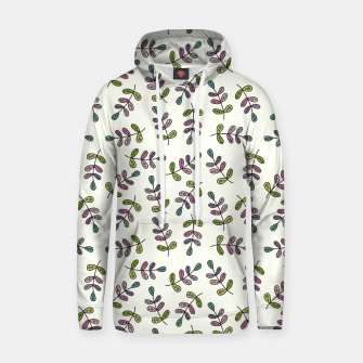 Thumbnail image of Handdrawn leaves pattern Sudadera con capucha, Live Heroes