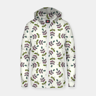 Thumbnail image of Handdrawn leaves pattern Sudadera con capucha y cremallera , Live Heroes