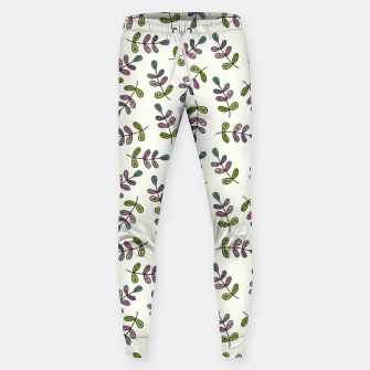 Thumbnail image of Handdrawn leaves pattern Pantalones de chándal , Live Heroes