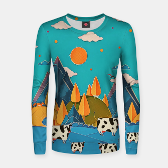 Miniature de image de Cows Women sweater, Live Heroes